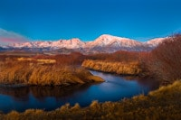 Owen River and the Eastern Sierra at Dawn