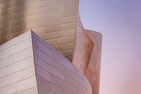 Detail of the Walt Disney Concert Hall at Sunset