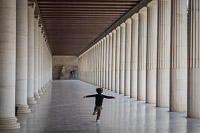 Boy Running in the Acropolis of Athens