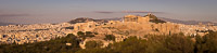 Panorama of the Acropolis of Athens at Sunset