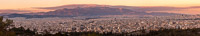 Panorama of the Modern City of Athens at Sunset