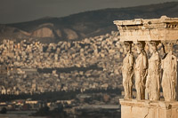 Caryatids of the Erechtheion in the Acropolis of Athens