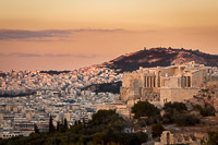 Old and New Athens at Sunset