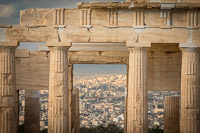 New Athens as Seen Through the Entrance of the Temple of Athena Nike