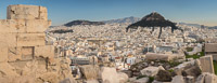 Panorama of Mount Lycabettus from the Acropolis of Athens