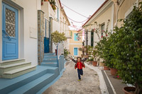 Child Running in the Streets of Poros