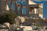Ruins and Caryatids at the Acropolis of Athens