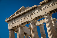 The Tympanum of the Parthenon of the Acropolis of Athens - Greece