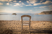Broken Chair on a Greek Beach