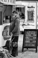 Man at Hot Dog Stand