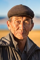 Portrait of an Old Kyrgyz Driver