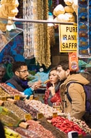 Couple Buying Spices at the Egyptian Market
