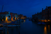 View of One of the Giudecca Canals at Night