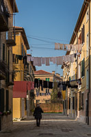 Laundry Hanged Above Venice Streets