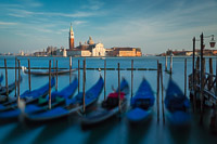 Gondolas and View of San Giorgio from San Marco Square
