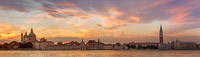 Panorama of San Marco Square from the Giudecca at Sunset