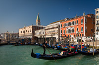 Gondola Sailing From San Marco Square